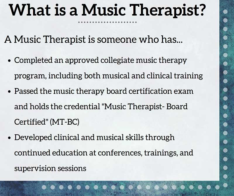 What is a Music Therapist Thompson tutoring